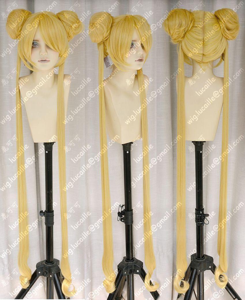 Details about Popular Mixed golden Sailor Moon Tsukino Usagi cosplay Party wig(China (Mainland))
