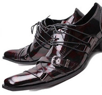 Free delivery service: in 2014, Europe and the United States pointed high-heeled leather cowhide business men's shoes