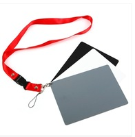 3 in 1 Black White Gray Balance Card 18% Gray Card for D90 D7000 D5200 D3200 Camera Universal Free Shipping