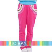 Girls Lace Pants Princess Style Elasticized Waist Long Trousers,Free Shipping K5261