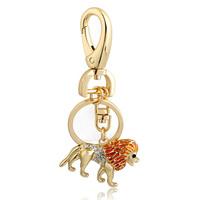 fashion designer week Free Shipping new 2014 gold jewellery Lovely Lion Pendant Keychain Jewelry Wholesale