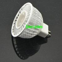 white shell COB CREE MR16 led spotlight 12v