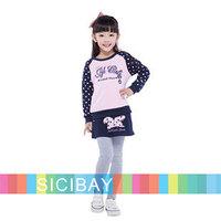 2014 New Fashion Spring Clothing Girls Sweet Adorable Clothing Sets Cute Hoodies + Pantskirt,2pcs K5273
