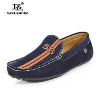 2014 fashion Moccasins male genuine leather men's breathable shoes lazy casual shoes flats sneakers Loafers men shoes HANDMADE