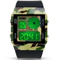 Skmei Fashion Seven colourful Military Sport Style Led Digital Watch For Men Women Multifunction Wristwatch 30M Waterproof