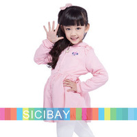 Girls Princess Style Coats Spring Kids Long Jackets,Angel Baby Wear,Free Shipping  K5281