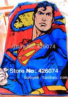 Genuine  Superman Children Cartoon Large Coral Fleece Fabric Blanket Carpet For Kids