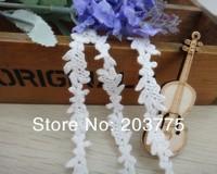 Zakka Style 100% Cotton Lace Ribbon Sewing Tape, white Lace Webbing, Cluny Lace Trim (12mm x 30yards) Free shipping
