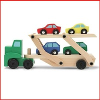 High Quality Kid/Child/Boy Wooden Toy Car Double-decker Bus Car Carrier Toy Gift CC-070
