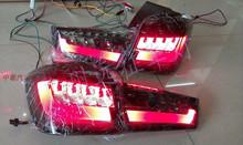 Free shipping!2010~2013 Mitsubishi ASX SUV LED taillight,Tea color,4pcs/set(2pcs Left+2pcs Right),35W 12V,super good quality!(China (Mainland))