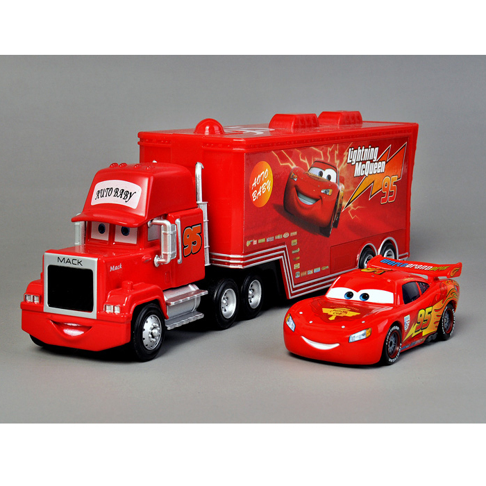 T0709 Cars diecast figure Mack toy Alloy Car Model for kids children-Container truck Red-No. 95 Car(China (Mainland))
