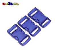 "3/8"" Flat / Straight Buckles Plastic For Paracord Bracelet Backpack Straps Webbing 10mm 100pcs Pack  #FLC004-C(Blue)"