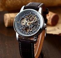 Brand Shenhua Vintage Automatic Mechanical Watch Skeleton Men Wrist Watch Support Drop Shipping