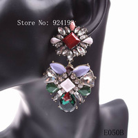Minimum Order $10 new 2014 crystal party latest model fashion earrings for women jewelry free shipping