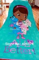 Genuine  Doc McStuffins Cartoon Large Coral Fleece Fabric Blanket Carpet For Kids