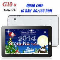 G10X tablet Quad core 1.2g  Android 4.2 10inch Capacitive screen ATM7029 HDMI WIFI camera Bluetooth OTG 1GB RAM 8GB/16GB ROM