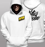 NAVI Natus Vincere Game Team white & yellow men hooded sweatshirt spring& autumn coat men's fleece PRO fashion gamer hoode