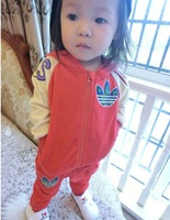 2014 new hot sale high quality brand 2 pcs set baby boy girl kids sports outdoor sets Spring and autumn