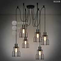 Loft vintage six lights hoaxed small pendant light
