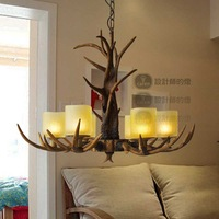 Fashion vintage american rustic antlers lamp pendant light