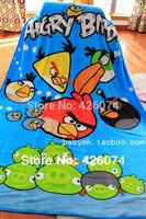 New 2014 Genuine The birds Children Cartoon Coral Fleece Fabric Blanket Carpet For Kids Free Shipping