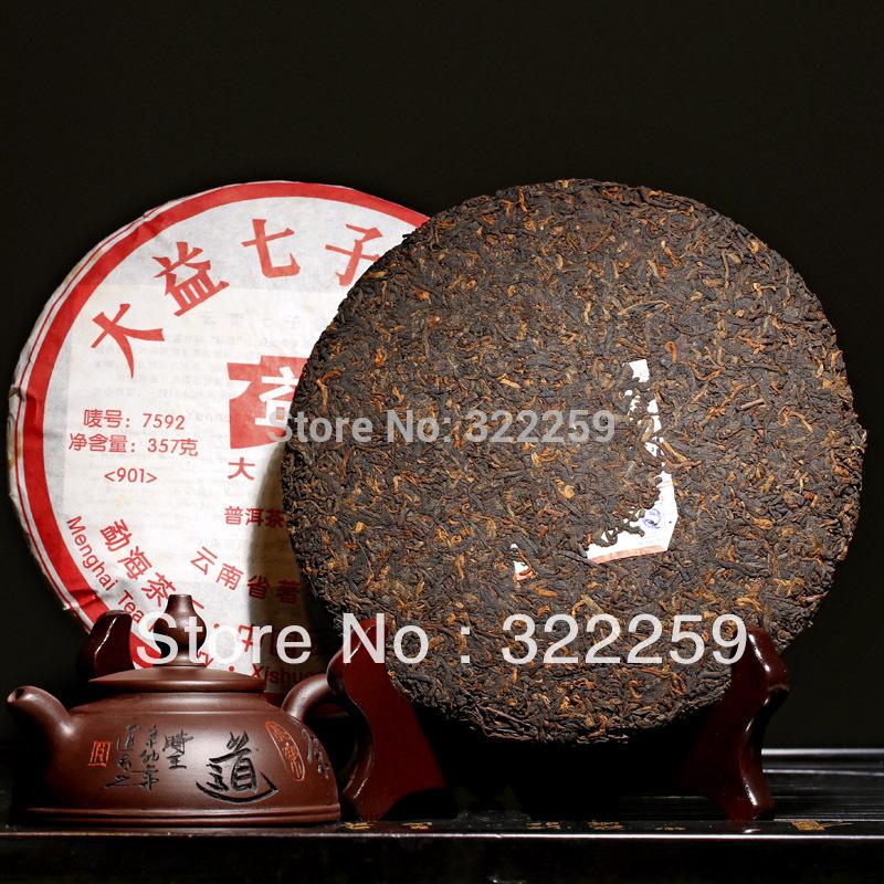GREENFIELD 2009 yr Yunnan Menghai Factory Dayi 7592 Chi Tse Beeng Ripe Shu Puer Pu
