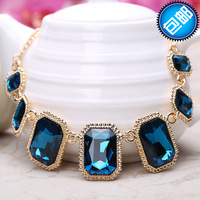 2013 accessories fashion crystal petal necklace rhinestone women's decoration chain long design necklace