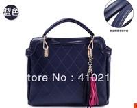 new  women messenger bag pu leather handbag luxury tassle zipper organizer should bag