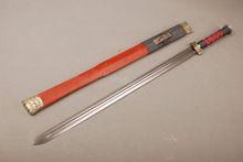 Detalhes sobre presente dobrado aço completa tang espada chinesa facas afiadas duplo bo-hi afiada(China (Mainland))