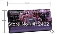 2014 Fashion Beautiful Butterfly Pattern Genuine Leather Wallet Women's Wallet Luxury Designer Purse Free Shipping