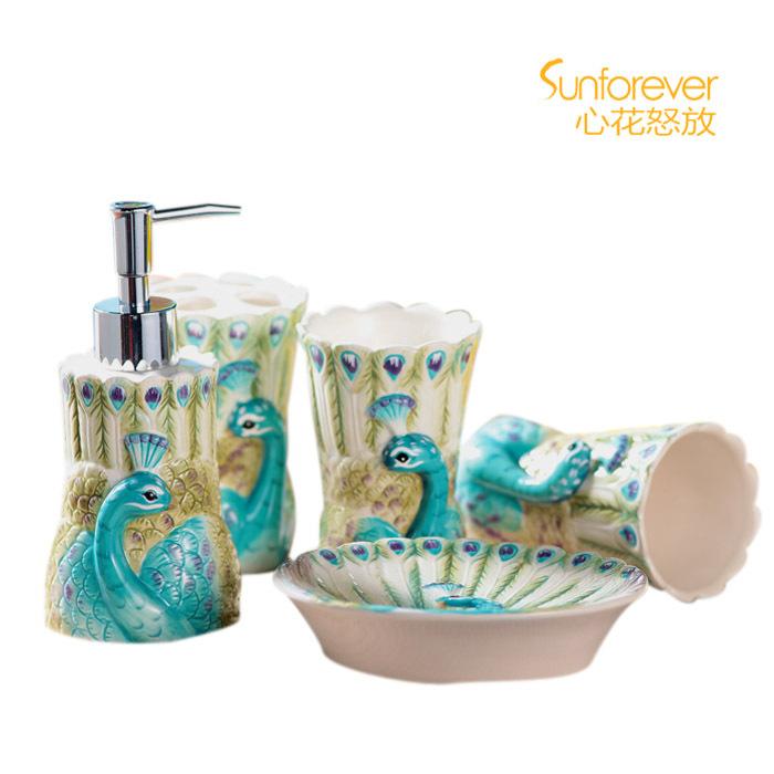 peacock bathroom set promotion online shopping for