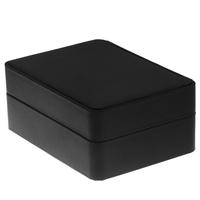 Men the shop quality black PU cufflinks packaging box cufflinks 110038