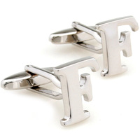Men the shop plain metal male 26 letter f cufflinks nail sleeve 157496