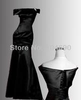 Free ship Evenig dress Bridesmaid dresses mermaid prom dress Girls long pageant dresses Black