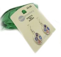 Min order $10 free shipping fashion drop earring cz , 3 , exquisite , silver ,