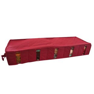 Free Shipping Large Capacity Bamboo Under Bed Clothing Storage Bag With Transparent Window(China (Mainland))