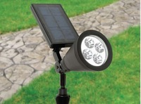 5ag 4 bright LED solar power garden lawn yard pathway outdoor spot lamp light lights lighting IP44