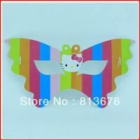 Birthday party supplies hello kitty paper masks 6 pcs/set