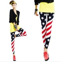 Girl country. 2014 the new pants. Sexy fashion pencil pants. The American flag stripe stars nine minutes of pants leggings