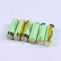 6PCS New Original 3400mah 18650 Rechargeable battery NCR18650B With Tabs For panasonic Free Shipping
