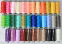 free shipping ,sewing thread, 60s/1*2,overcasting thread,elastic fabric thread,used into silk fabric thread,moq is 36colors/set