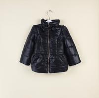 Perfect miracle2013 female child bow liner plus velvet short design wadded jacket children's clothing