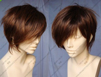 JF707 charming Short Light Brown Cosplay Party hair Wig +wigs CAP