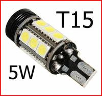 4pcs/lot 3W T15 W16W 15SMD 5050 LED brake light Car reverse Light eagle eye with turn signal lens #z