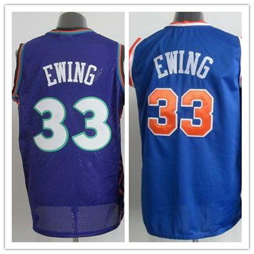 NWT REV30 York #33 Patrick Ewing Jersey Throwback Royal Blue All Star Stitched Cheap Basketball Jersey Shop(China (Mainland))