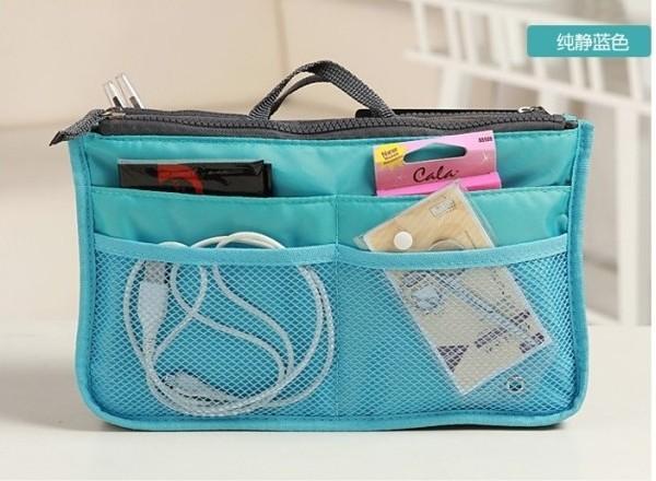orgnizer bag Travel storage bag multi functional bag in bag liner female handbag Large-SH09(China (Mainland))