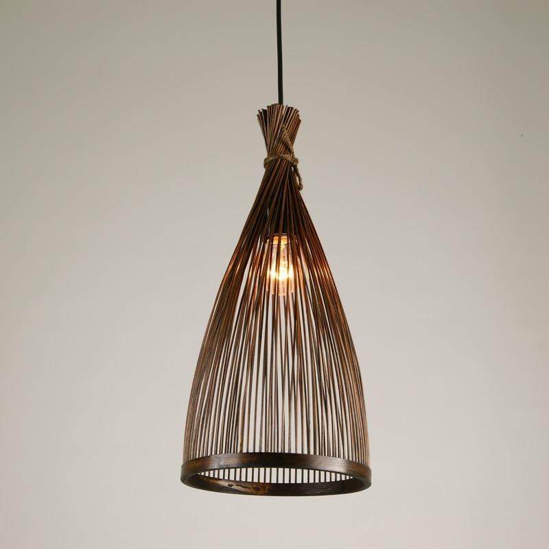Japanese Style Handmade Bamboo Pendant Light Decoration