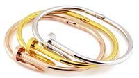 Wholesale 18k gold screw nail bracelet for woman /man bracelet bangle high quality fashion jewelry free shipping