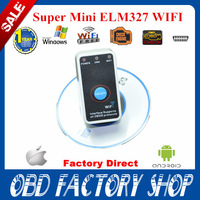 2014 new arrival ELM327 V2.1 Super MINI WIFI ON/OFF Switch ELM327 WIFI OBD2 / OBDII ELM 327 Car Scanner