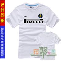 100% cotton football short-sleeve training service champions league t-shirt inter milan jersey fans t-shirt